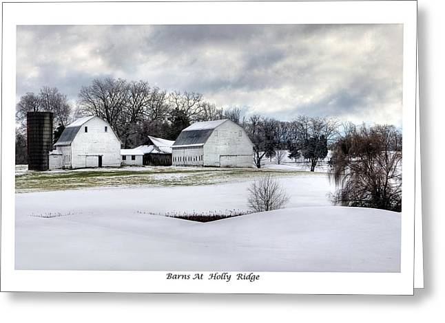 Barns At Holly Ridge Greeting Card by Terry Spencer