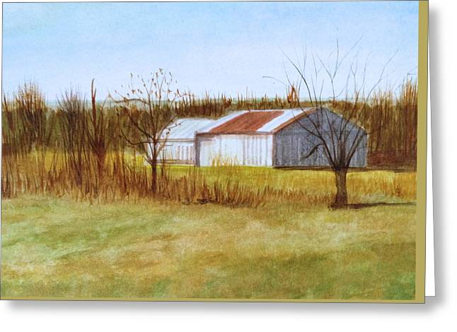 Barns Greeting Card by J A Cahill