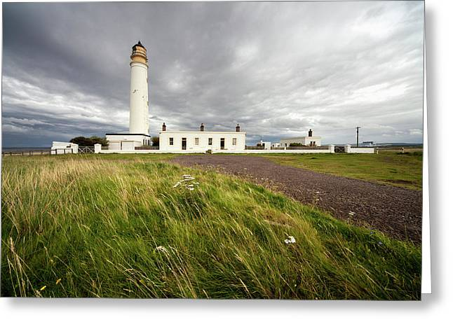 Barns Ness Lighthouse  Lothian, Scotland Greeting Card