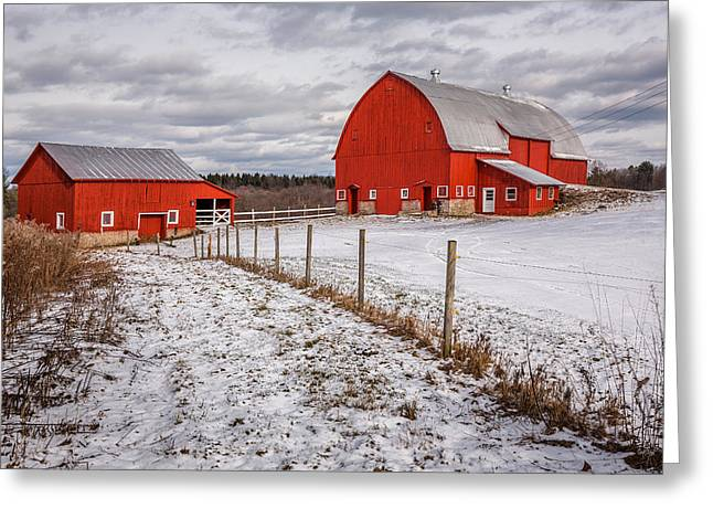 Barns Of New York Greeting Card by Everet Regal