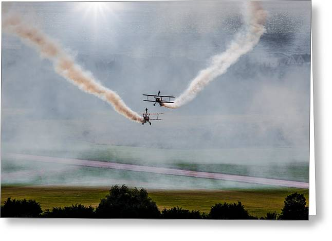 Greeting Card featuring the photograph Barnstormer Late Afternoon Smoking Session by Chris Lord