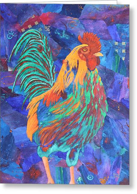 Barnyard Dude Greeting Card by Nancy Jolley