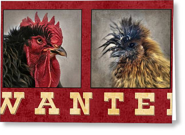 Barnyard Gang Wanted Greeting Card by Lori Deiter