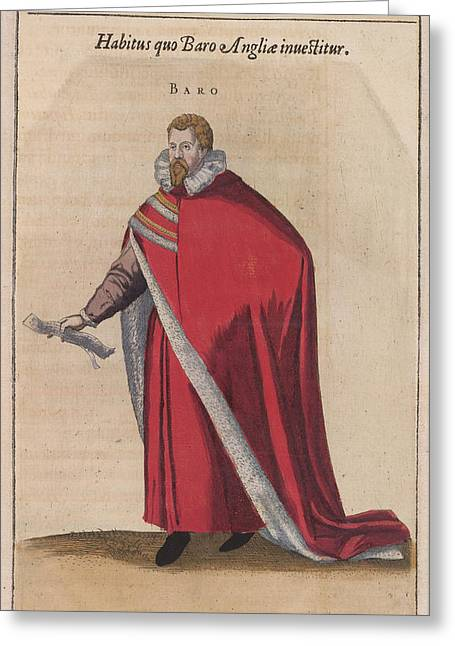 Baro Greeting Card by British Library