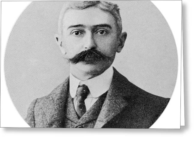 Baron De Coubertin (1863 - 1937) French Greeting Card