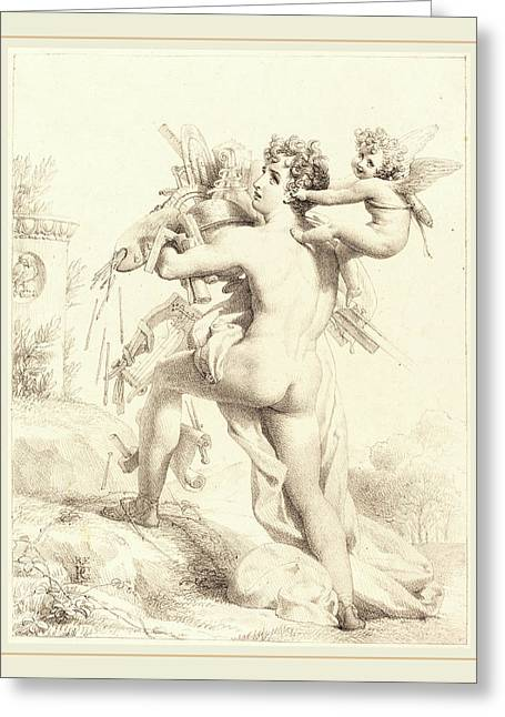 Baron Pierre-narcisse Guerin French, 1774-1833 Greeting Card