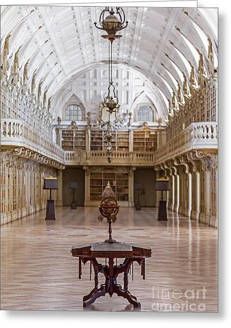 Baroque Library  Greeting Card by Jose Elias - Sofia Pereira