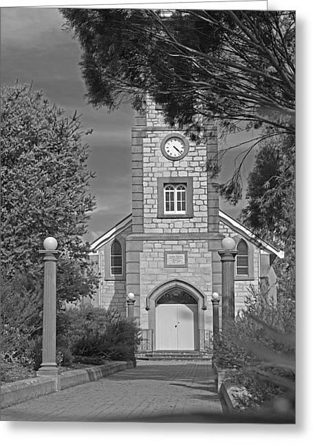 Barossa Valley Church Greeting Card by Gordon  Grimwade