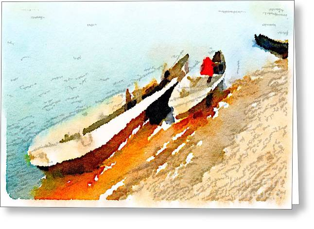 Barques Sur Le Chari Greeting Card