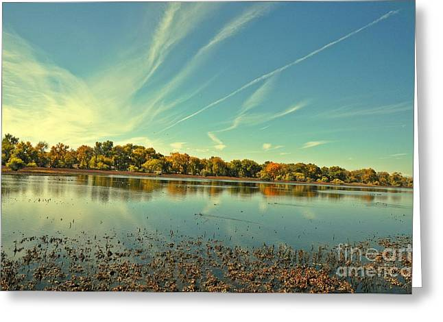 Barr Lake And Classic Cloud Greeting Card by Reza Mahlouji
