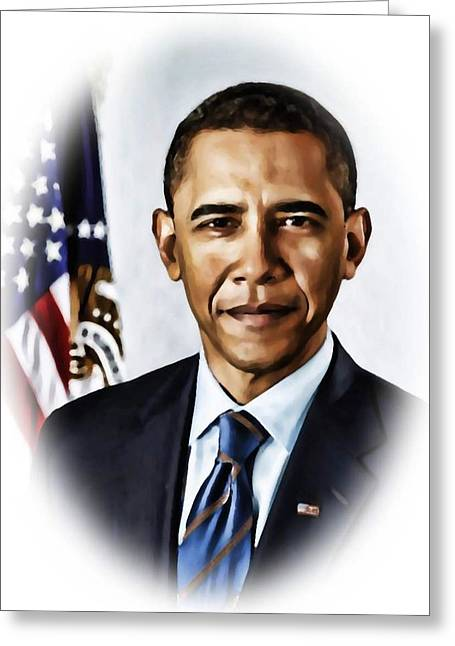 Barrack Obama Greeting Card