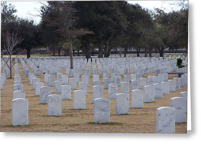 Greeting Card featuring the photograph Barrancas National Cemetery by Michele Kaiser