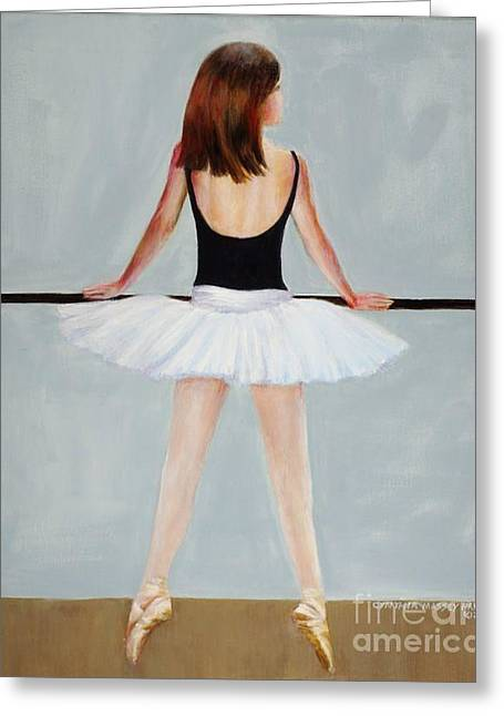 Greeting Card featuring the painting Barre by Cynthia Parsons