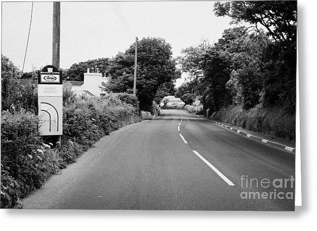 Barre Garroo On The Isle Of Man Tt Course Iom Greeting Card by Joe Fox