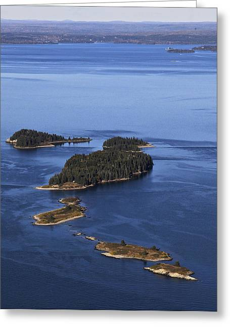 Barred Islands, Penobscot Bay Greeting Card by Dave Cleaveland
