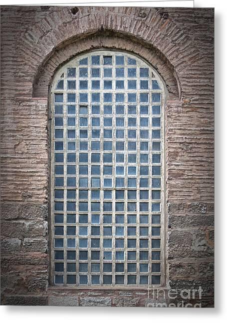 Barred Mosque Window Greeting Card