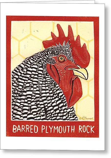 Barred Plymouth Rock Greeting Card by Katherine Plumer