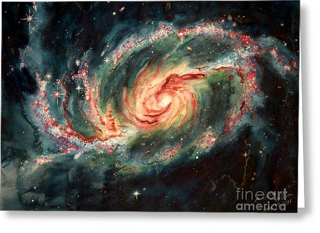 Barred Spiral Galaxy Greeting Card