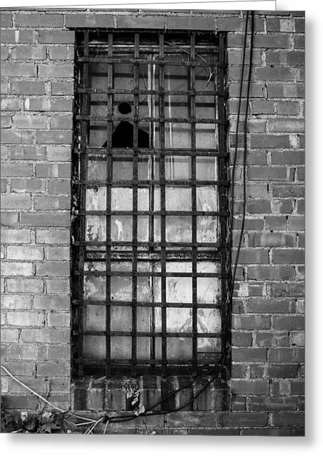 Barred Window Greeting Card by Nathan Hillis