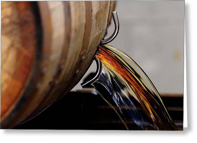 Barrel Pour Greeting Card by Lone Dakota Photography