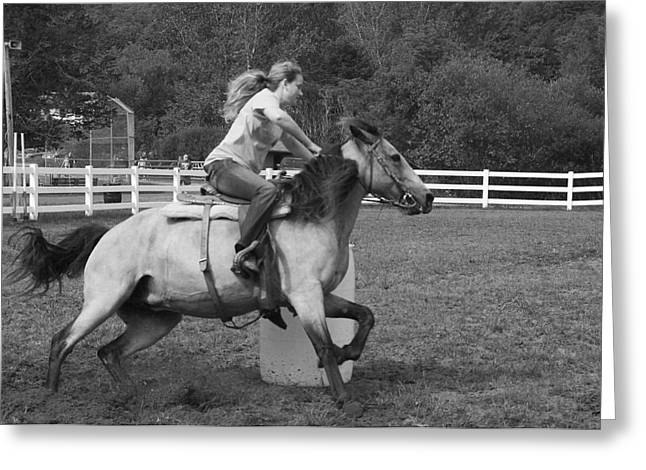 Greeting Card featuring the photograph Barrel Racer by Paul Miller