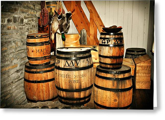 Barrels  Greeting Card by Marty Koch