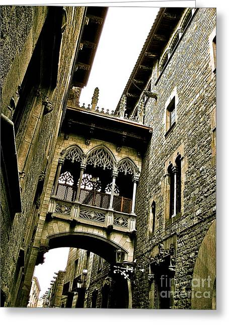 Barri Gotic Greeting Card