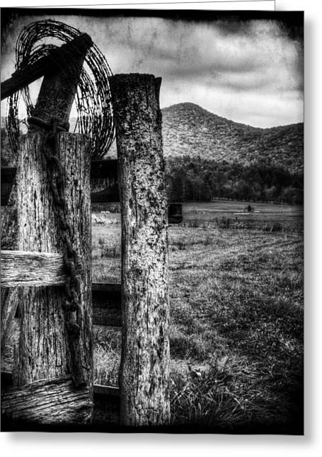 Barrier Greeting Card by Greg and Chrystal Mimbs
