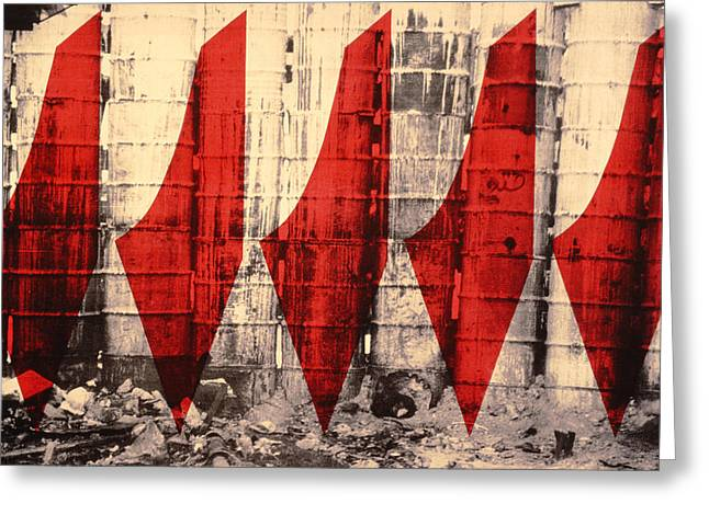 Barriers To Statehood, 1992 Screen Print On Canvas Greeting Card