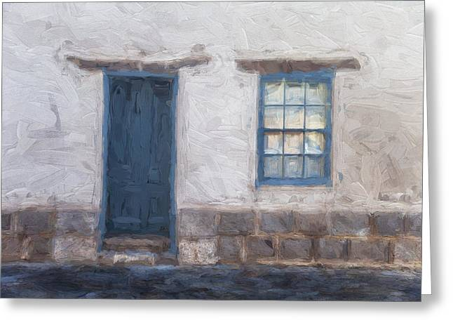 Barrio Historico Tucson Painterly Look Greeting Card