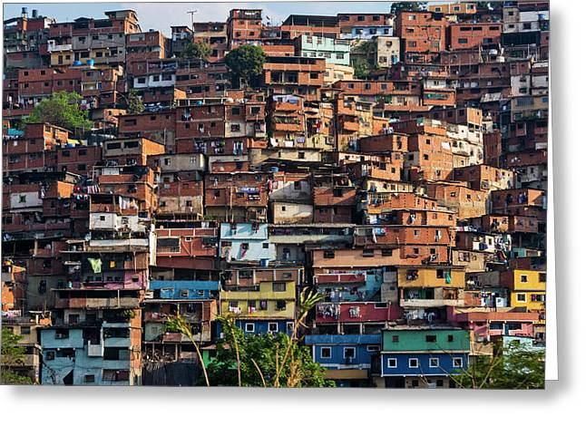 Barrios, Slums Of Caracas Greeting Card
