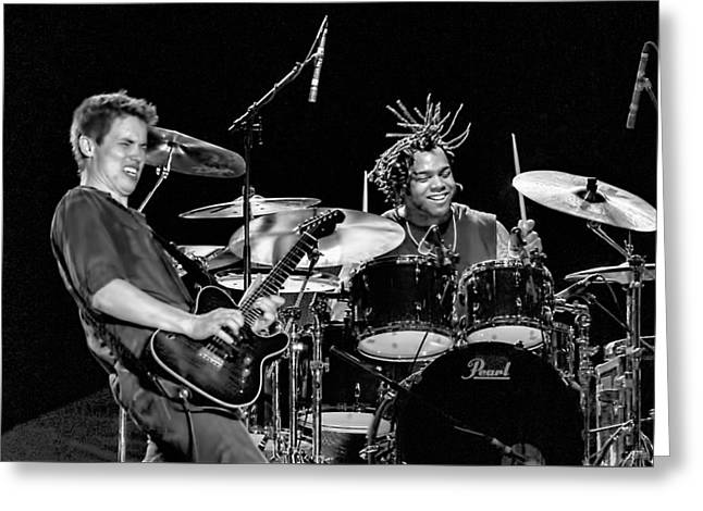 Barry Alexander Drumming For Johnny Lang Greeting Card
