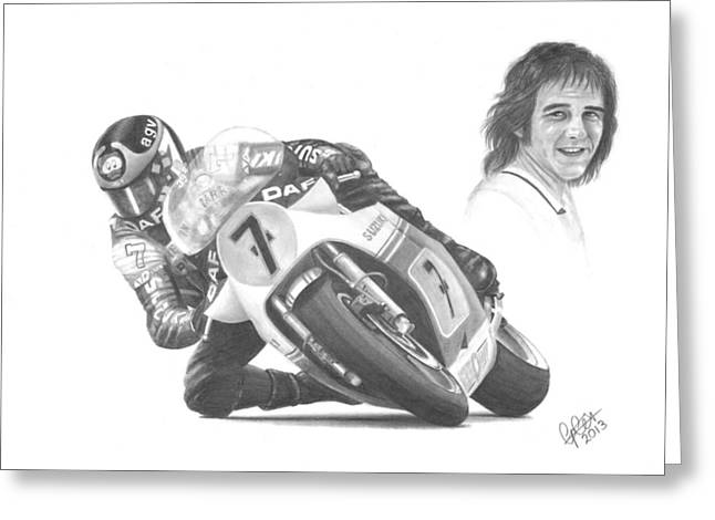 Barry Sheene Mbe Greeting Card