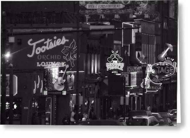 Bars On Broadway Nashville Greeting Card