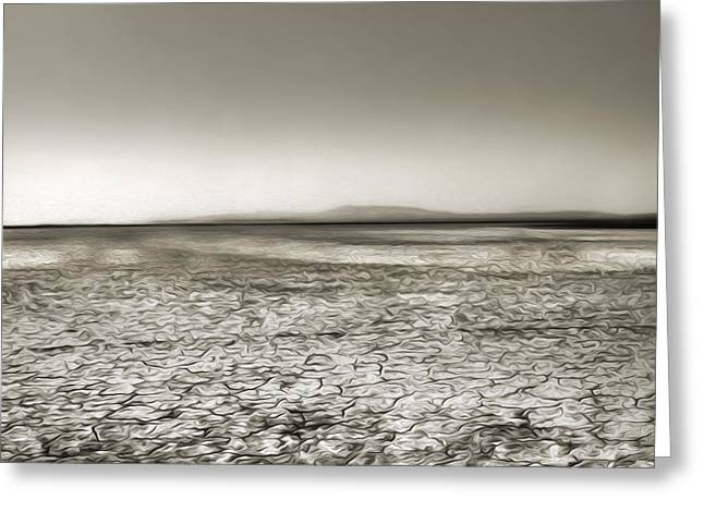 Barstow Dry Lake Bed  Greeting Card by Gregory Dyer