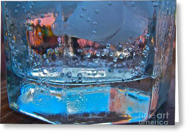 Bartender Blues Greeting Card by Pamela Clements