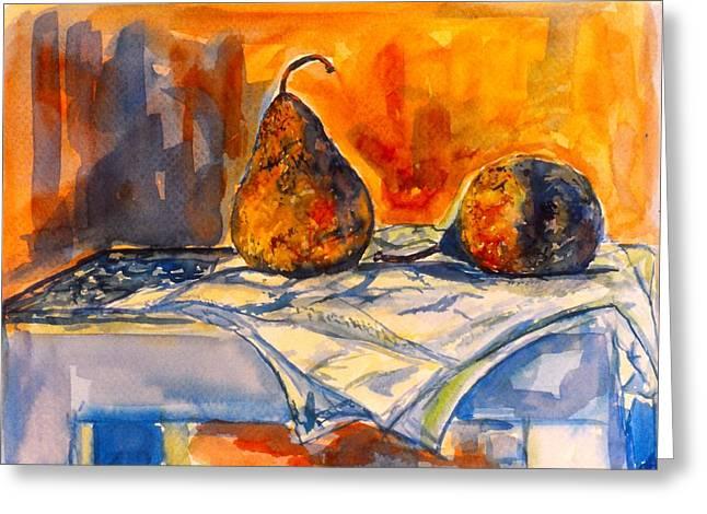 Bartlett Pears Greeting Card by Kendall Kessler