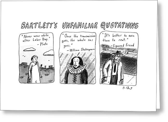 Bartlett's Unfamiliar Quotations Greeting Card