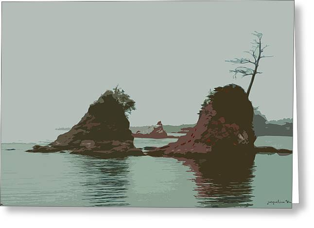 Barview Rocks Greeting Card