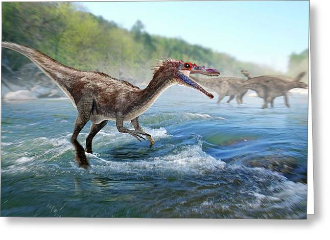 Baryonyx Dinosaur Greeting Card by Jose Antonio PeÑas
