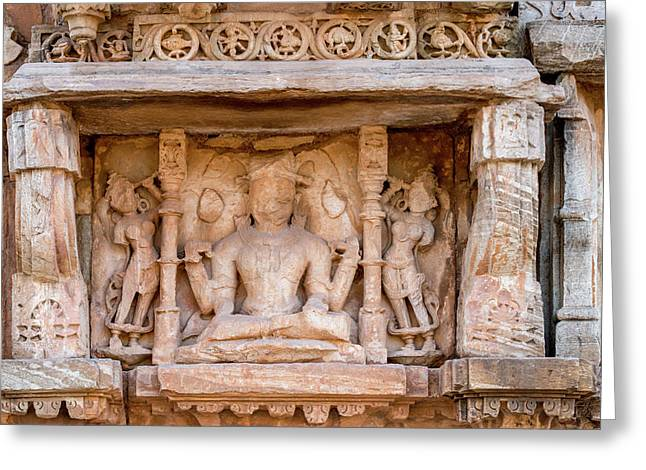 Bas Relief Chittaurgarh Citadel 6th Greeting Card by Tom Norring