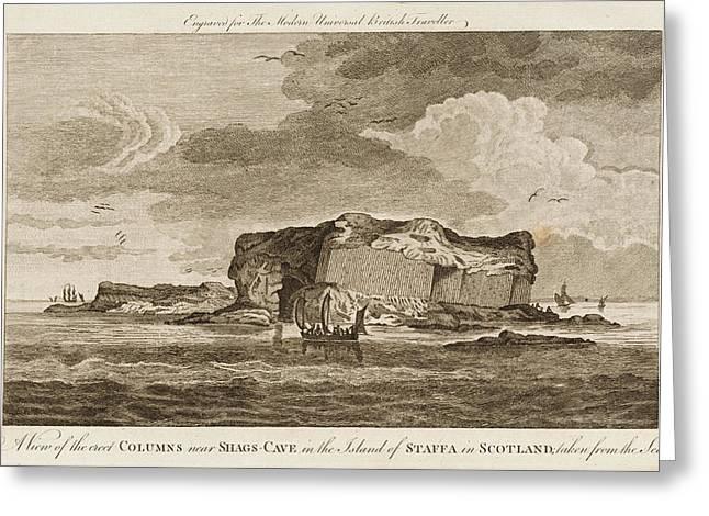 Basalt Columns Over Shag's Cave Greeting Card