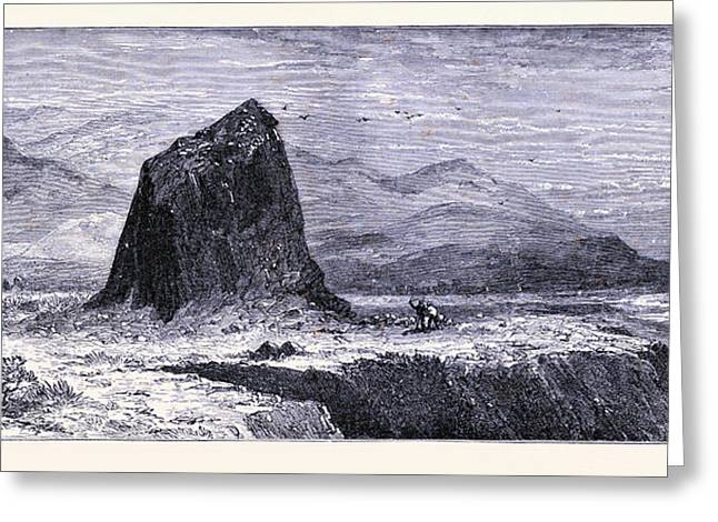 Basalt Rocks Near The Russian River United States Of America Greeting Card