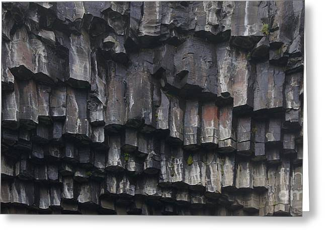 basaltic columns of Svartifoss Iceland Greeting Card