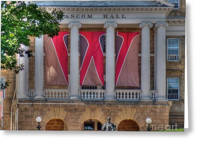 Bascom Hall-on Wisconsin Greeting Card by David Bearden