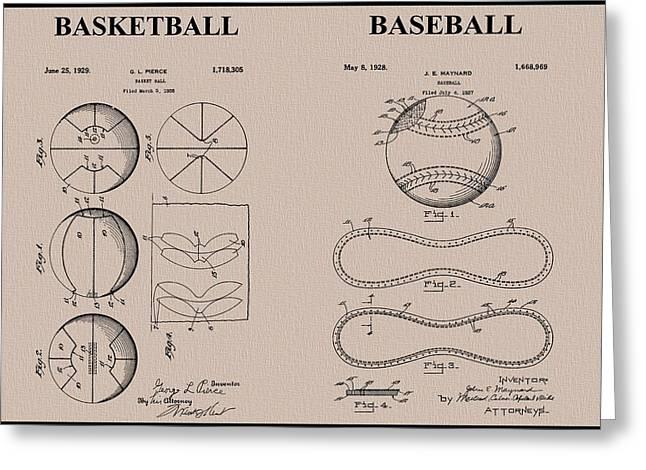 Baseball Basketball Patent Neutral Greeting Card