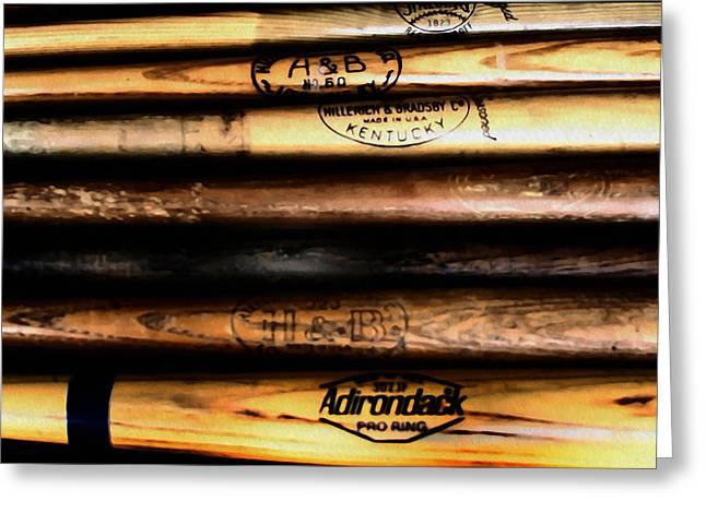 Baseball Bats Greeting Card by Bill Cannon