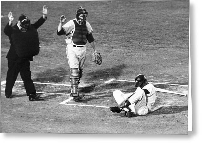 Baseball Batter Hit By Pitch Greeting Card
