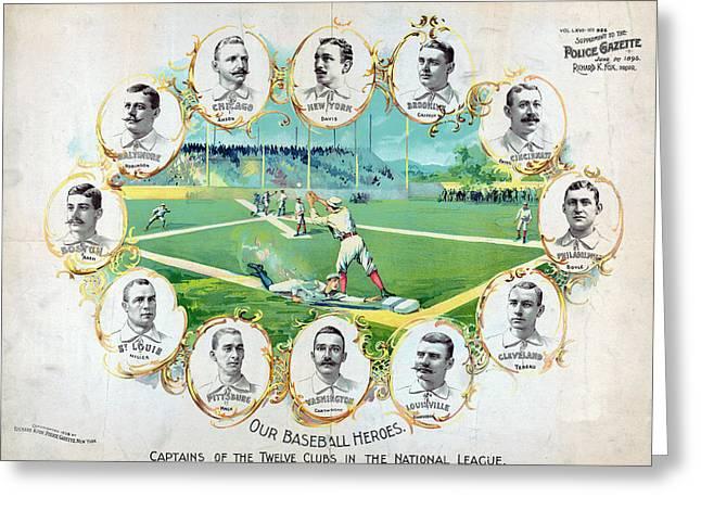 Baseball, C1895 Greeting Card