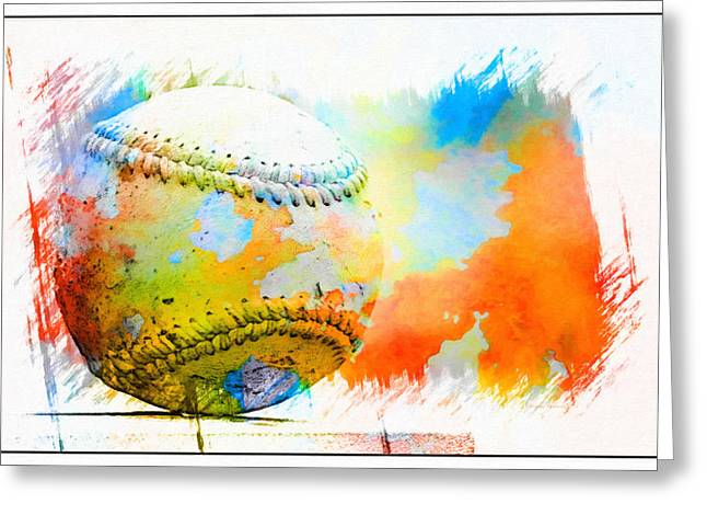 Baseball- Colors- Isolated Greeting Card by Kenny Francis